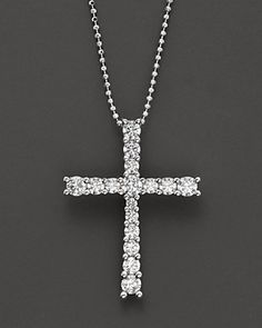 Bloomingdale's Diamond Cross Necklace