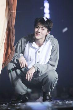 Sehun-ah, I am going to love you so much you won't even know sadness exist! Baekhyun Chanyeol, Exo Bts, Kpop Exo, Park Chanyeol, Luhan And Kris, Kris Wu, Rapper, Sehun Cute, Kim Minseok