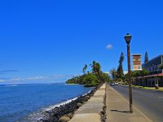 """Front Street,  Maui (""""Baby Beach"""" in the distance)"""