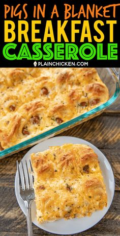 Pigs in a Blanket Breakfast Casserole - seriously the BEST! Crescent rolls dijon mustard lit'l smokies cheese eggs and milk. SO simple and SOOO delicious! Great for breakfast brunch lunch dinner and tailgating! I mean nothing says football food Chicken Breakfast, Breakfast Dishes, Breakfast Time, Breakfast Recipes, Crescent Rolls, Crescent Roll Recipes, Tailgating Recipes, Brunch Recipes, Brunch Ideas