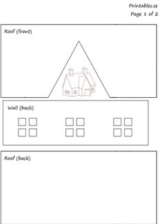 gingerbread house template Template for gingerbread house 7 (free printable) Template for gingerbread house 7 (free printable) Gingerbread House Icing, Homemade Gingerbread House, Halloween Gingerbread House, Cardboard Gingerbread House, Gingerbread House Patterns, Cardboard Houses, Paper Houses, Gingerbread House Template Printable, Templates Printable Free