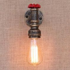 Cheap Price Sanyi Vintage Iron Water Pipe Wall Lamp Aisle Stair Wall Lighting Fixture Loft Wall Sconces With E27 Edison Incandescent Bulb Neither Too Hard Nor Too Soft Led Lamps Led Indoor Wall Lamps