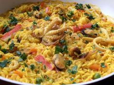 Paella, Fried Rice, Risotto, Macaroni And Cheese, Seafood, Good Food, Food And Drink, Healthy Recipes, Healthy Food
