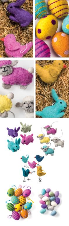Himalayan wool felt crafts, great for Easter. Namaste's supplier in kathmandu makes fantastically quirky and original products from hand made wool felt. Hand made in Nepal Fairly traded by Namaste