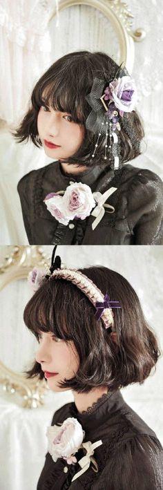 池田 七帆 (Naho Ikeda) ~ 微博 Kawaii Fashion, Lolita Fashion, Gothic Fashion, Girl Fashion, Korean Traditional Clothes, Pretty Asian Girl, Hair Reference, Character Reference, Girl Short Hair