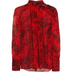 Pierre Balmain Animal-print silk-georgette blouse and other apparel, accessories and trends. Browse and shop 14 related looks.