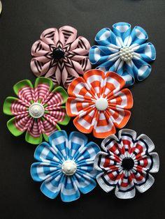 Ribbon flowers #4
