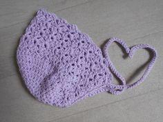 Béguin ajouré en coton, coloris lilas, 0/6 mois