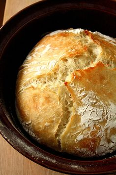 Rustic, no knead French bread.