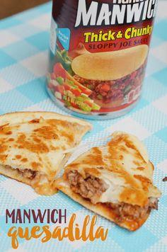 Sloppy Joe Quesadilla Recipe Mexican Food Recipes, Beef Recipes, Cooking Recipes, Cooking Gadgets, Easy Recipes, Healthy Recipes, Wontons, Cannoli, Kitchens
