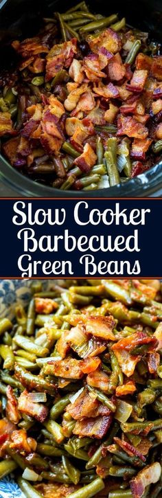 Frugal Food Items - How To Prepare Dinner And Luxuriate In Delightful Meals Without Having Shelling Out A Fortune Slow Cooker Barbecued Green Beans Crock Pot Slow Cooker, Crock Pot Cooking, Slow Cooker Recipes, Cooking Recipes, Crock Pots, Chef Recipes, Delicious Recipes, Bean Recipes, Side Dish Recipes