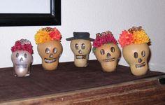 Dia de Los Muertos Art made of gourds :)