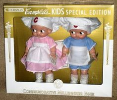 Campbell's Kids Boy & Girl Dolls Horsman Special Millenium Edition 2001 7208-2 MIB $30