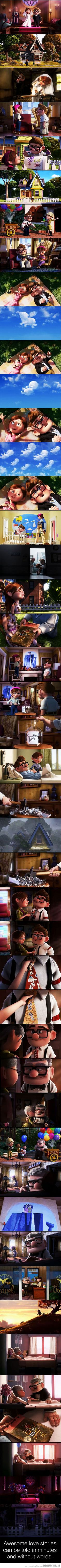 the best love stories can be told without saying a word. #up #disney #pixar