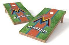 Miami Marlins Single Cornhole Board - Field
