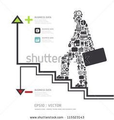 Elements are small icons Finance make in businessman concept .Vector illustration. by ponsuwan, via ShutterStock