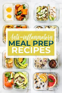 anti-inflammatory diet meal prep recipes challenge can help reset and heal your body of inflammation. Join the meal prep recipes challenge and use our easy, delicious, gluten-free recipes to help you feel better! The recipes are rich in foods that are known for their anti-inflammatory properties. Food plays a key role in reducing inflammation in the body, so use this fun challenge to help get you started! #antiinflammatory #paleo #mealprep #dairyfree #mealplan