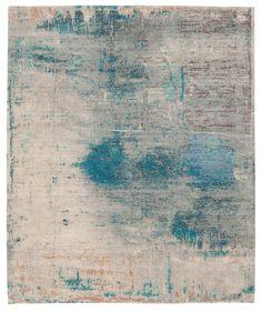 Artwork 22: Blue Hand knotted in Wool.Silk, Nettle