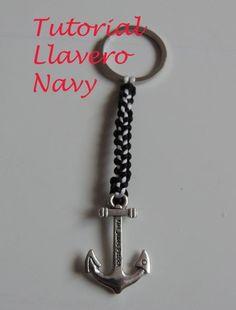 DIY Tutorial Llavero Navy para hombre. Para regalar en San Valentin, Dia del padre. Key chain navy.