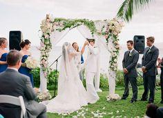 Maui Destination Wedding at the Sugarman Estate   Read more - http://www.stylemepretty.com/2014/01/23/maui-destination-wedding-at-the-sugarman-estate/