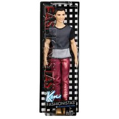 Barbie Fashionistas Ken Doll Denim Stripes Blocked Green Check Blue Vest | eBay