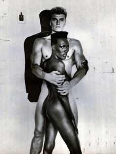 Grace Jones & Dolph Lundgren — While living in Syndey, Australia, Lundgren became Jones' bodyguard and eventually the two moved in together. After a brief stint as a model and bouncer at the NYC club The Limelight, Jones got him a small debut role in the James Bond flick A View to a Kill (1985).