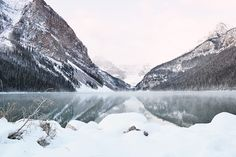 Lake Louise Mountain Photography Print by WildWildernessPhotos