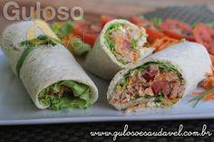 Quer uma dica leve e nutritiva para o #jantar? O Wrap Integral de Atum e Queijo é delicioso, muito fácil e rápido de fazer!  #Receita aqui: http://www.gulosoesaudavel.com.br/2014/05/20/wrap-integral-atum-queijo/