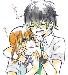 My little monster. Ha Shizuku's just like let go of me you idiot but you know she doesn't want Haru to.