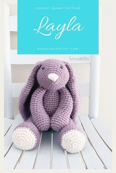 """Layla"" Crochet Bunny - Free pattern. #crochet #amigurumi #bhooked"
