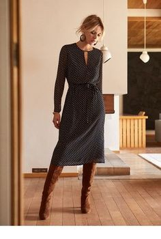 Winterkleid Winterkleid The post Winterkleid appeared first on Mode Frauen. Mode Outfits, Fall Outfits, Casual Outfits, Fashion Outfits, Womens Fashion, Workwear Fashion, Fashion Hacks, Winter Dresses, Dress Winter