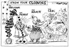 Know Your Clowns - South African Cartoonist Zapiro