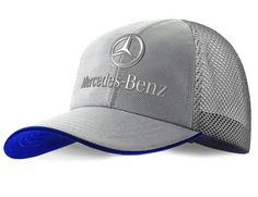 Boné Prata com borda azul: