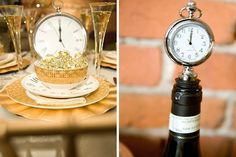 Clock – You've already been counting down to the big day since you were engaged, and NYE is all about the countdown, so why not have elements of time with clock decor around your wedding?