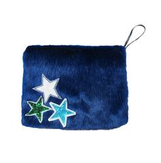 FashAddict Ldn  Blue faux fur clutch bag £25.00 Party accessory for those cold Winter nights.