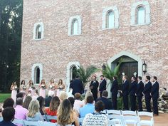 Wedding ceremony in front of Pierce Castle:  Mississippi's Premiere Wedding and Event Venue