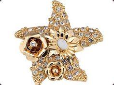Versace Starfish Brooch