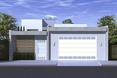 Planta de casa com portão fechado - Projetos de Casas - Modelos de Casas