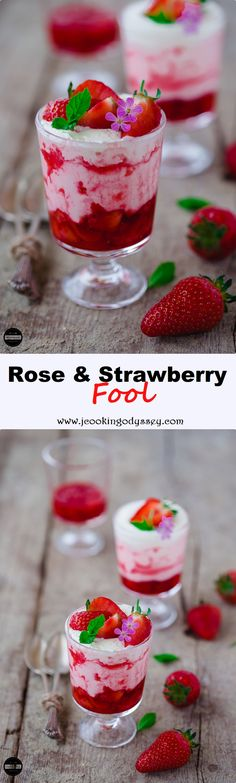 Rose and Strawberry Fool