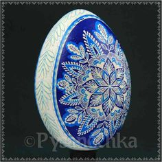 Real Ukrainian Pysanky Goose Pysanka Hand made Easter Egg/Christmas Ornament by Halyna Kovalenko, from Iryna