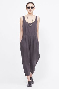 Black Crane Overall (Charcoal)