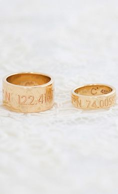 the perfect wedding bands from coordinates collection
