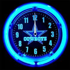 Dallas Cowboys Crafts, Dallas Cowboys Outfits, Cowboys 4, Dallas Cowboys Football, Football Team, Cowboy Crafts, Neon Clock, How Bout Them Cowboys, Cowboy Theme
