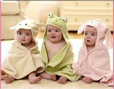 Adorable towel baby Bathrobes!