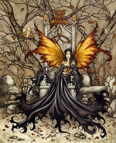 Queen Mab Fairy Print by Amy Brown. Measures 8-1/2 x 11 inches... Out of Print... very few remaining in stock.