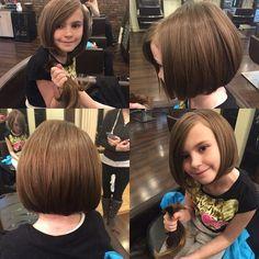 Classic bob haircut for little girls.Nessa wants her hair cut for School Little Girl Bob Haircut, Bob Haircut For Girls, Little Girl Hairstyles, Bob Hairstyles, Girls Short Haircuts Kids, Wedding Hairstyles, Toddler Hairstyles, Natural Hairstyles, Classic Bob Haircut