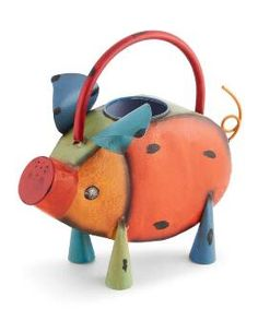 Metal Pig Watering Can Special Occasion Outfits, Bacon Bits, Cookers, Pigs, Garden Furniture, Piggy Bank, Branding Design, Sculpture, Canning