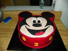 Mickey Mouse cake idea.