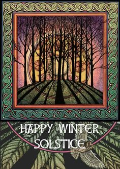 Art of Courtney Davis Courtney Davis, Happy Winter Solstice, Celtic Art, Anglo Saxon, Free Personals, Yule, Winter Holidays, Four Seasons, Witchcraft