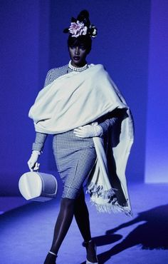 Naomi Campbell for Mugler Fall 1995 Couture collection.